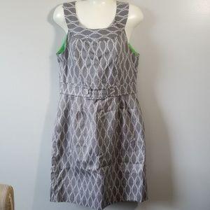 Robert Bee Gray/White Dress